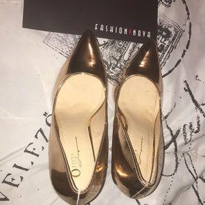 Fashion Nova Rose Gold Heels